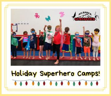 Mt Baker Gymnastics Superhero Camps