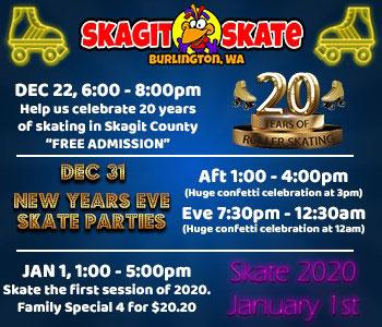 Skagit Skate New Years Parties 2019