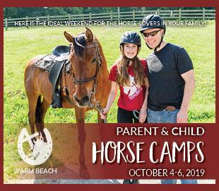 Warm Beach Parent Child Horse Camp