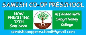 Samish Co Op Preschool 2018